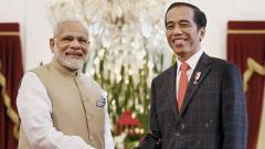 Prime Minister Narendra Modi and the President of Indonesia, Joko Widodo at a meeting at Istana Merdeka in Jakarta, Indonesia on Wednesday, May 30, 2018. PTI Photo/PIB