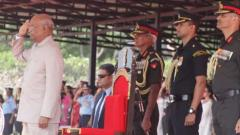 Kovind presents President's Colours to Army Aviation Corps