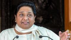 BSP supremo Mayawati addresses a press conference at her residence in Lucknow on Saturday. PTI Photo
