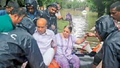 District admin helping affected people