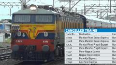 Eight Pune-Mumbai trains cancelled from today