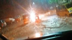 Heavy rain throws traffic out of gear across Pune City