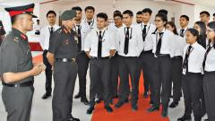 Lt Gen Mohanty interacts with Army Law College students