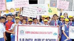 SB Patil Public School conducts e-waste & cleanliness awareness drive in Ravet