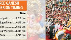 Pune bids adieu to Bappa with fervour