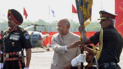 Ram Nath Kovind presents President's Colours to Army Aviation Corps