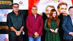 (l-r) Kalapi Nagada, Paresh Rawal, Payal Ghosh and Rishi Kapoor