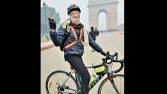 48-year-old engineer cycles 6,255 km across India