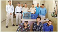 3 held for smuggling  two leopard cubs