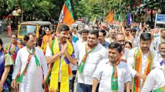 A busy day for BJP's man Shirole in Shivajinagar