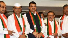 Day after resignations, four Maha opposition MLAs join BJP