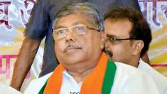 Chandrakant Patil files nomination for Kothrud