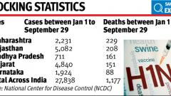 Maharashtra tops in swine flu deaths across the country
