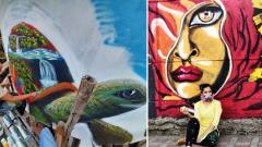 Sneha Chakraborty, adding colours to city's walls with powerful messages