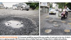 Roads in city, PCMC areas resemble moon's surface