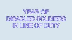 Army to celebrate 'Year of Disabled Soldiers in Line of Duty' in the city