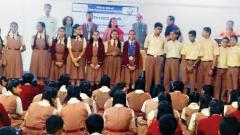 The installation ceremony of the Interact Club was organised at PVG's Muktangan English School and Junior College