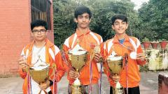 Arav Gill (extreme right) along with the others.