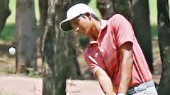 Aryan grinds his way for 3-shot lead in Junior golf