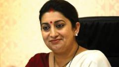 It is for Akbar to respond, says Irani on sexual harassment charges against him