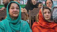 Kulsoom Nawaz (L) the wife of Pakistan's ousted former Prime Minister Nawaz Sharif, has died in London. She was 68.