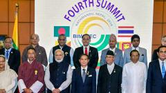 Prime Minister Narendra Modi and other BIMSTEC leaders in a group photograph during the 4th BIMSTEC Summit, in Kathmandu, Nepal on Friday.
