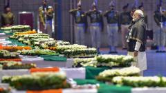 PM Modi pays last respects to slain CRPF men