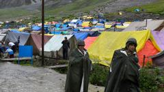 Amarnath Yatra suspended on both routes due to heavy rains