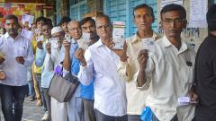 63 Precent casting a ballot in Maharashta Assembly Elections; turnout like 2014