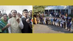 65.5 per cent polling in Madhya Pradesh; 1145 EVMs replaced