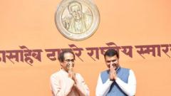 Thackeray memorial: Amid tie-up uncertainty, Maha CM and Sena chief come together