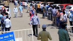 Coronavirus Pune: People line up outside hospitals to get a medical certificate to travel outside city