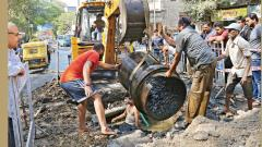 Valve issue: Thousands of litres of water wasted on Tilak Road