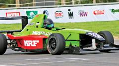 Raghul Rangasamy in action during National Racing Championship at MMRT on Friday