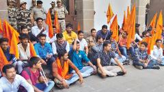 ABVP holds protest at SPPU, raises student welfare issues