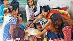 CLWs fight malnourishment among slum kids