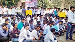 MSc students on indefinite strike