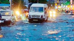 Rainfall may continue to lash the city today