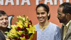 Want to contribute to India: Saina after joining BJP