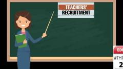 Recruitment of teachers, but with hiccups