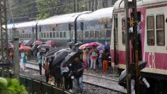 Mumbai rains: Local train services stop; BEST diverted
