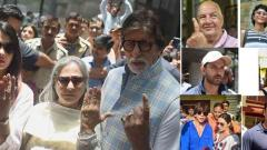 Bollywood stars cast vote; among them Big B, SRK, Deepika