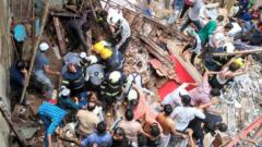 4-storey residential bldg collapses in Mumbai, 40-50 people trapped
