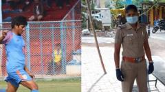 Indian footballer Indumathi Kathiresan dons police uniform amid fight against COVID-19