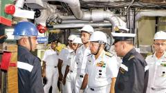 Chief of Southern Naval Command visits INS Shivaji