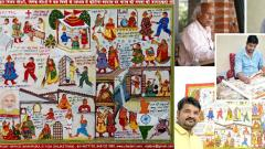 Two Rajasthani artisans spread coronavirus awareness through centuries-old style of painting