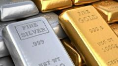 Gold prices drop Rs 396, silver falls Rs 179