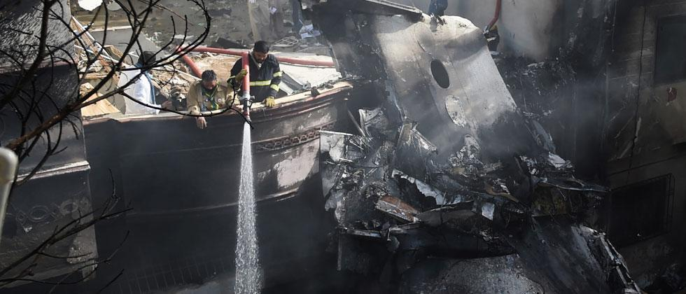 Pakistan plane with 107 on board crashes in residential area in Karachi