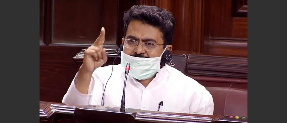 congress mp rajeev satav suspended from rajya sabha on his birthday