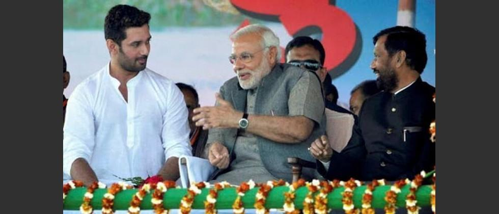 Only narendra modi called me for support when my father was admitted to ICU says chirag paswan